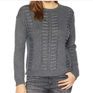 NWT Vince Camuto Lace Through Gray Sweater